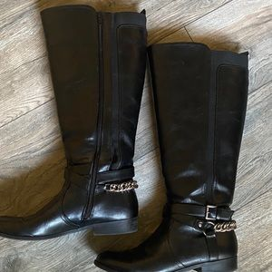 8.5 knee high black boots shoes winter fall